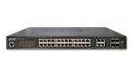 Planet GS-4210-24PL4C - Switch 24x10/100/1000T PoE + 4xTP/SFP